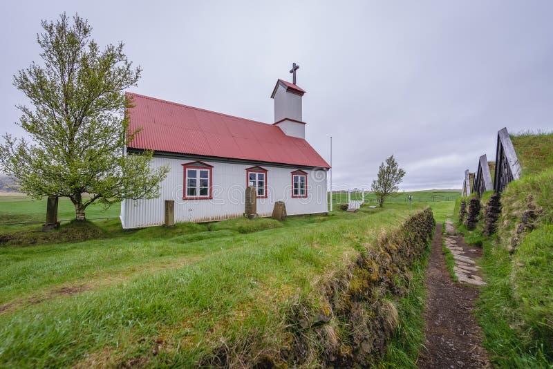 Дом дерновины Keldur в Исландии стоковые изображения rf