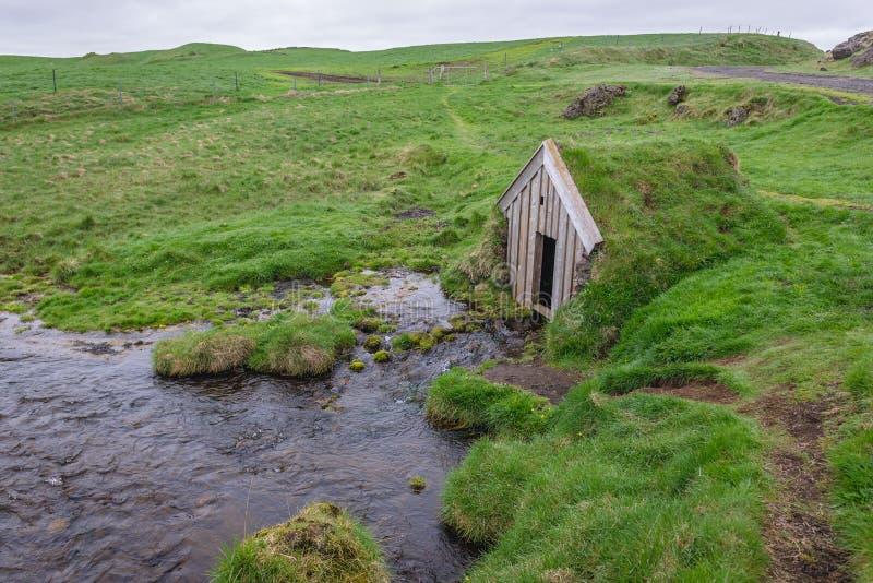 Дом дерновины Keldur в Исландии стоковое фото rf