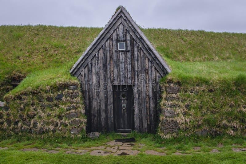 Дом дерновины Keldur в Исландии стоковое изображение rf