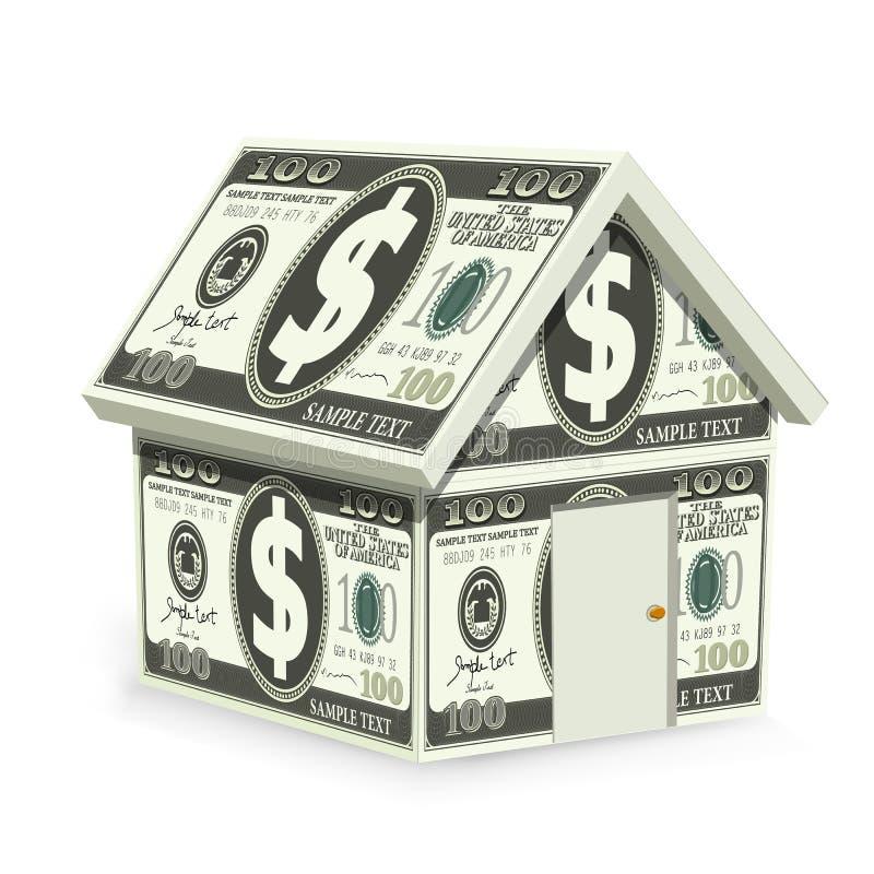 дом доллара иллюстрация штока