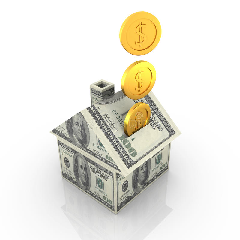 Дом денег иллюстрация штока