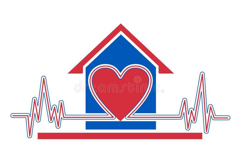 дом здоровья внимательности иллюстрация вектора