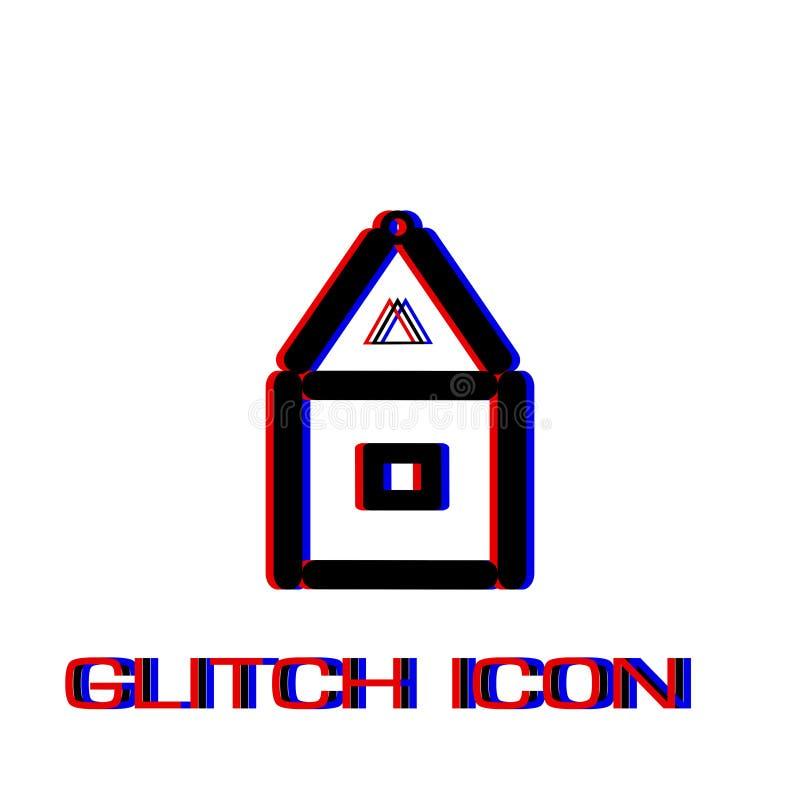 Дом значка бумажных карт плоско иллюстрация вектора