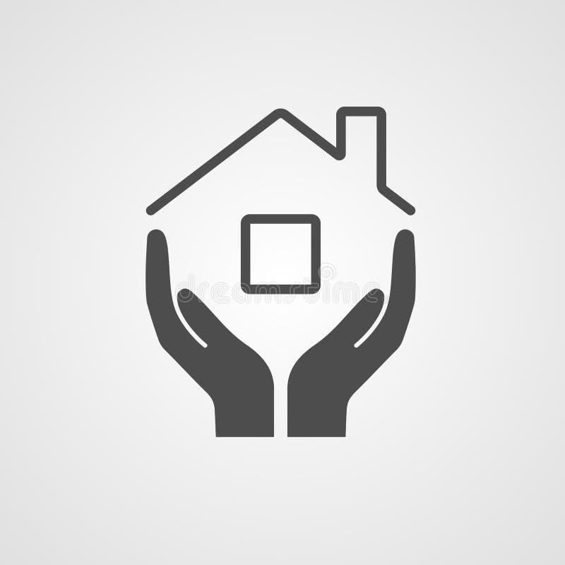 Дом значка вектора иллюстрация штока