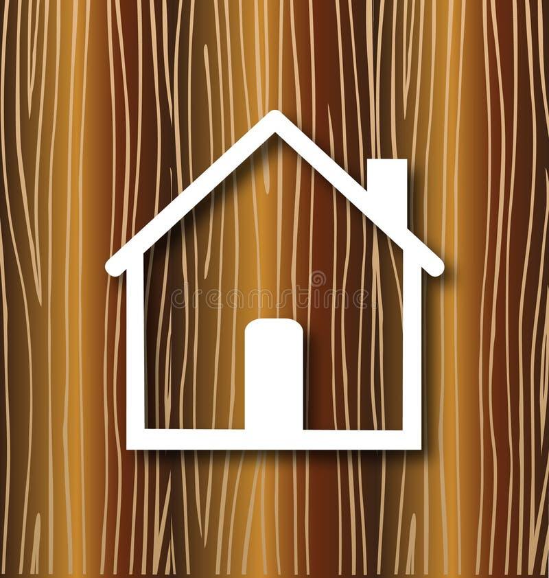Дом и древесина иллюстрация штока