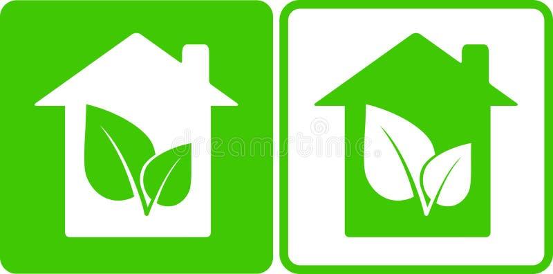 Дом и лист иллюстрация вектора