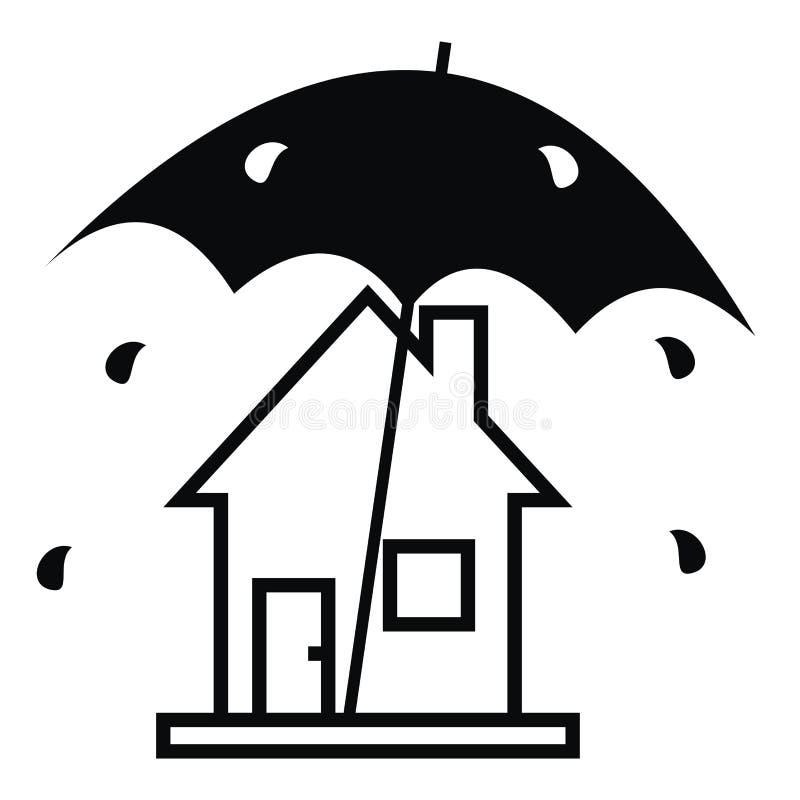 Дом и дождь иллюстрация вектора