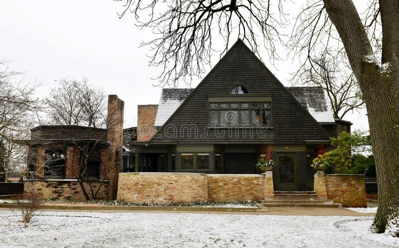 Дом и студия Франк Ллойд Wright's стоковое изображение