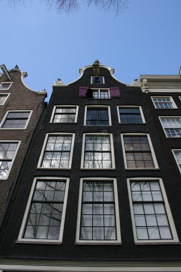 дом канала amsterdam стоковые изображения