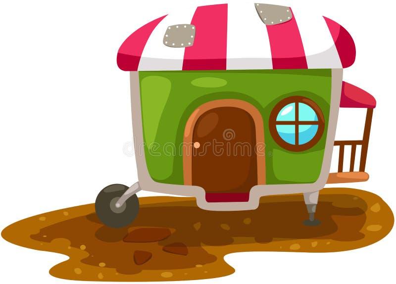 дом каравана иллюстрация штока