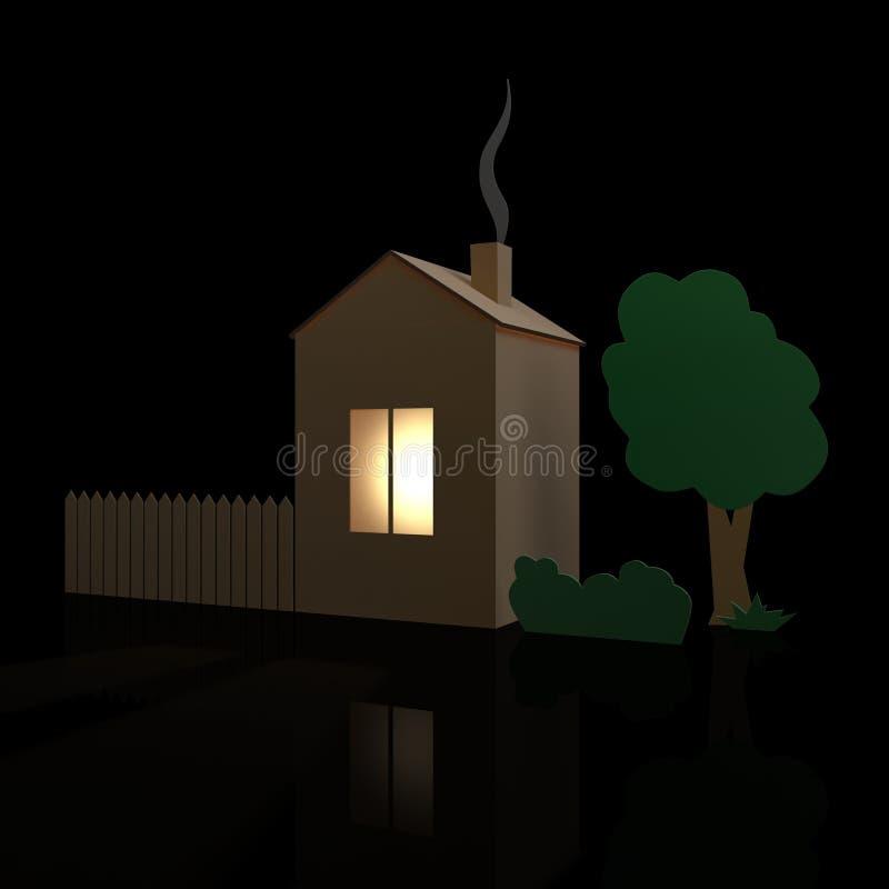дом картона иллюстрация вектора