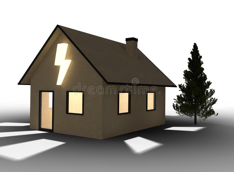 Дом картона Qlowing с внезапным символом белизна изолированная предпосылкой бесплатная иллюстрация