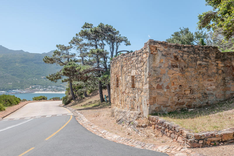 Дом кашевара исторического старого форта рядом с приводом пика Chapmans стоковая фотография rf