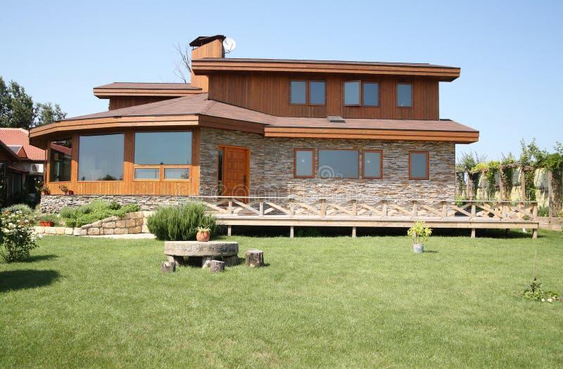 дом кедра стоковая фотография rf