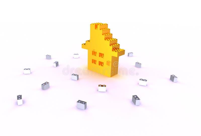 дом кирпичей иллюстрация вектора