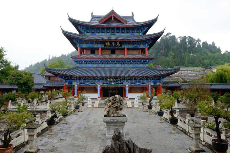 Дом Китая Юньнань деревянный стоковая фотография rf