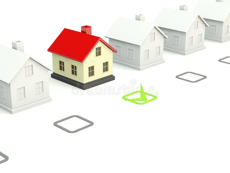 дом контрольной пометки иллюстрация вектора
