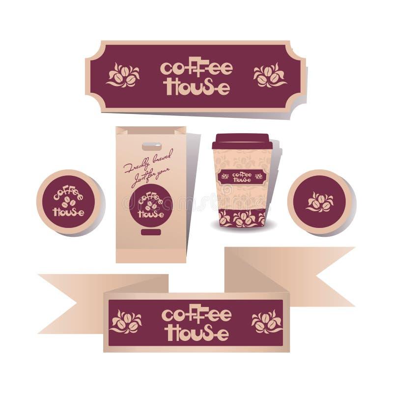дом кофе капучино barman подготовляет Комплект бесплатная иллюстрация