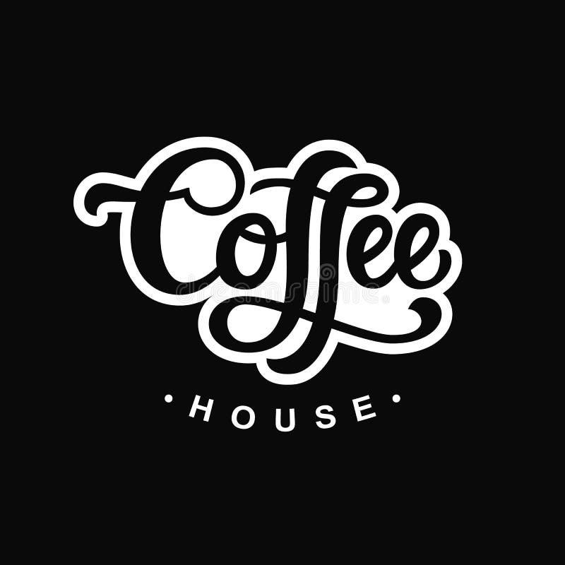 дом кофе капучино barman подготовляет Плакат с литерностью написанной рукой иллюстрация штока