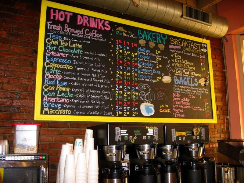 дом кофе chalkboard стоковое изображение rf