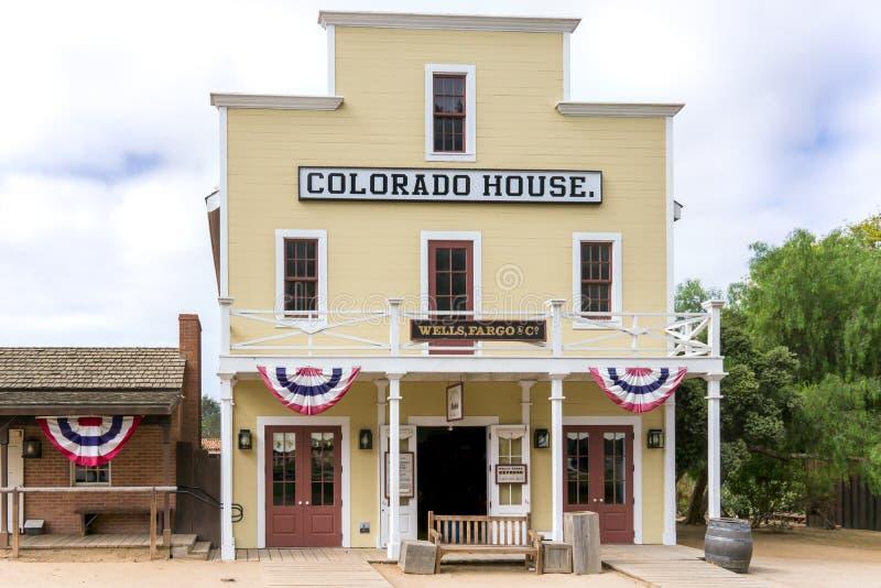 Дом Колорадо на старом парке положения Сан-Диего городка историческом стоковое изображение rf