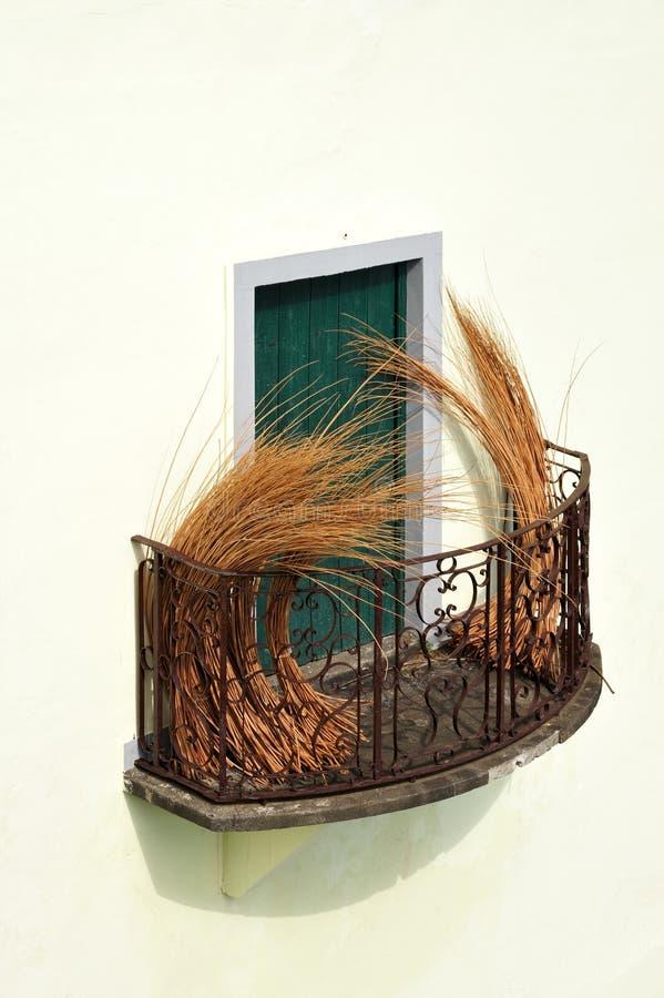 дом Мадейра балкона старая стоковые фото