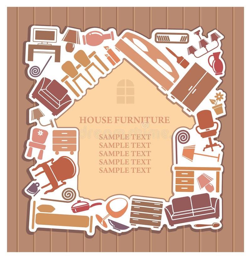 дом мебели иллюстрация штока