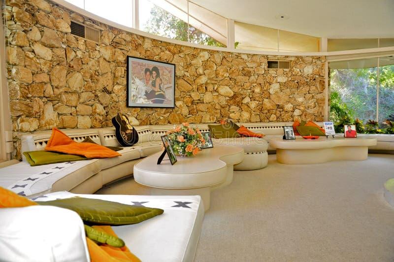 Дом медового месяца ` s Elvis Presley, Palm Springs стоковые изображения rf