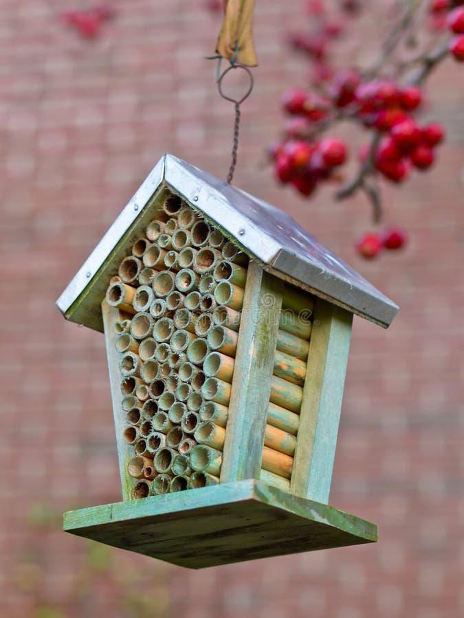 Дом насекомого в саде стоковое фото rf