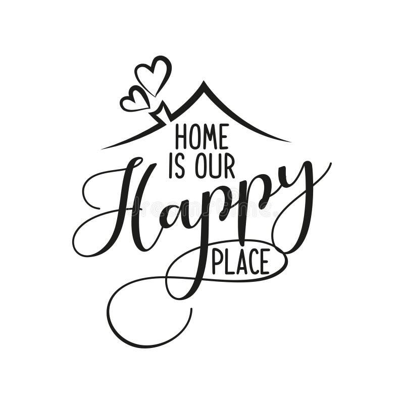 Дом наше счастливое место бесплатная иллюстрация
