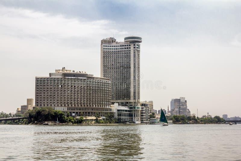 Дом на набережных на реке Ниле в Каире Египет стоковое фото rf