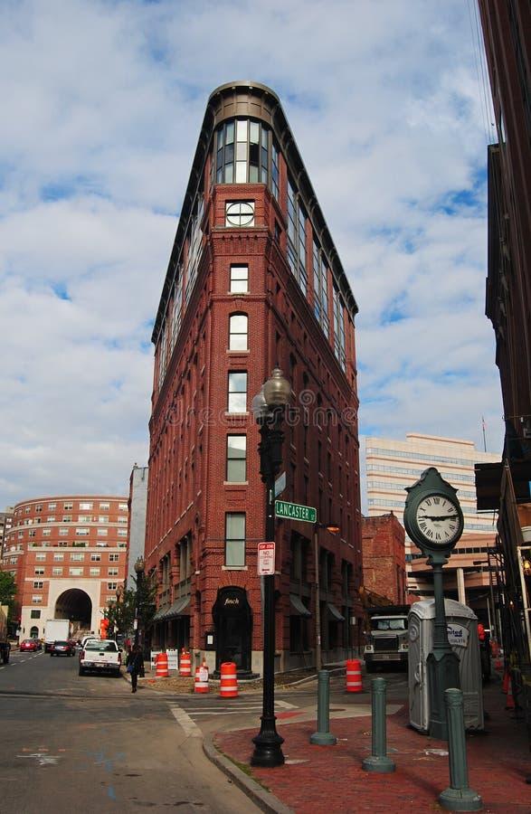 Дом на St Ланкастера в Бостоне стоковые фотографии rf