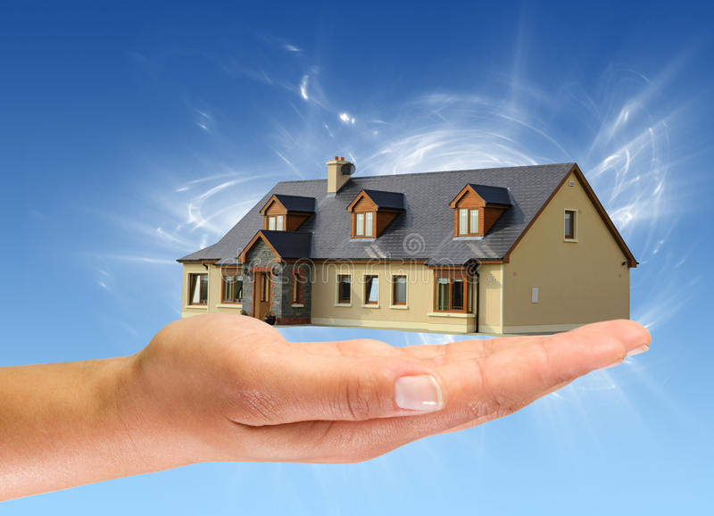 дом новая вы стоковое изображение rf