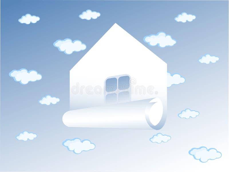 Картинки дома на облаке