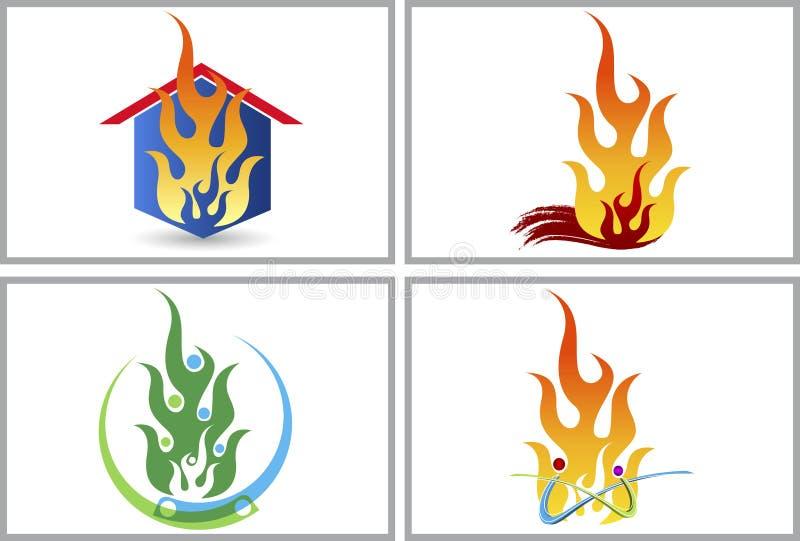 Дом огня бесплатная иллюстрация