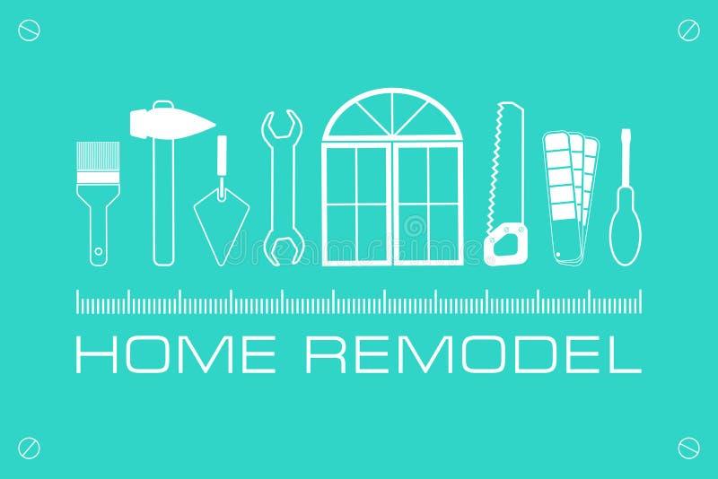 Дом логотипа вектора remodel бесплатная иллюстрация