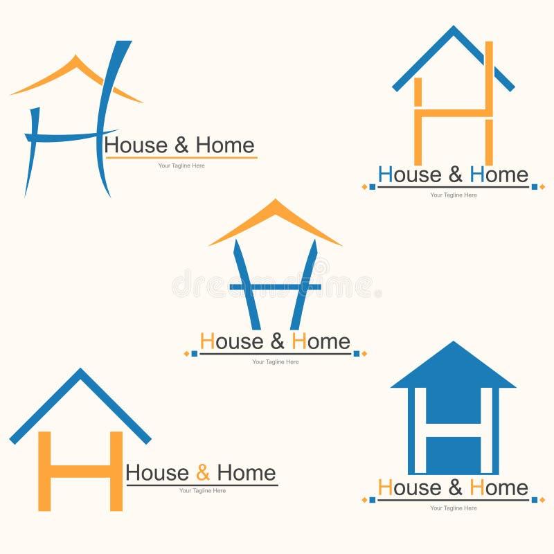 Дом & дом иллюстрация вектора