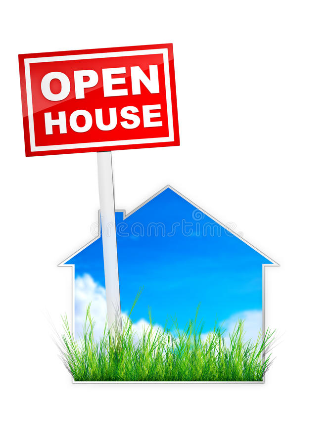 дом открытая иллюстрация вектора