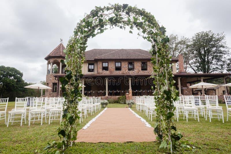 Дом оформления свадьбы стоковые фото