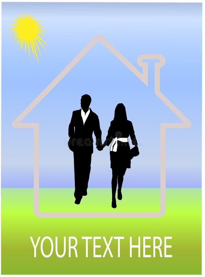 дом пар мечт счастливая иллюстрация штока