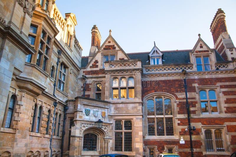 Дом Пембрука, часть Кембриджского университета стоковое изображение