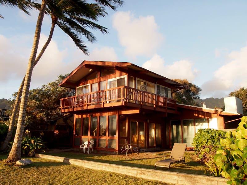 Дом пляжа Waimanalo стоковые фотографии rf