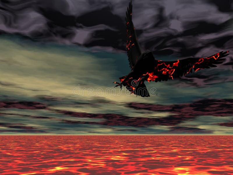 дом пожара орла иллюстрация вектора