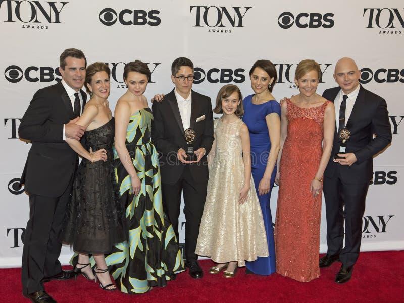 Дом потехи выигрывает наиболее хорошо мюзикл на 69th ежегодных премиях Тони в 2015 стоковые изображения