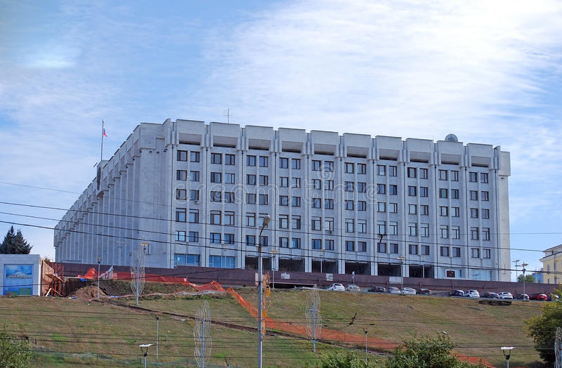 Дом правительства зоны самары samara стоковые фото
