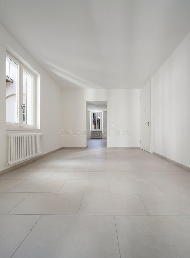 Дом, пустая комната, внутренняя стоковые изображения rf