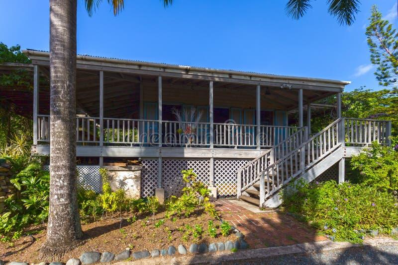 Дом плантатора в ботаническом саде Городок дороги, Tortola стоковое изображение rf