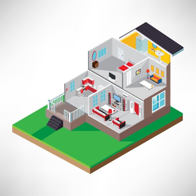 дом равновеликая Интерьер иллюстрация штока