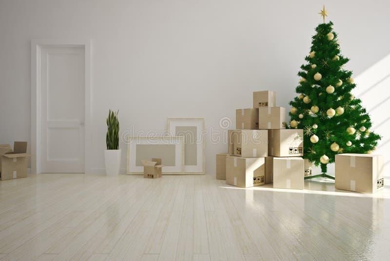 Дом рождества moving стоковая фотография