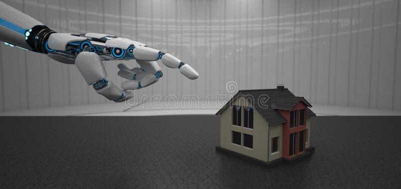 Дом руки робота иллюстрация вектора